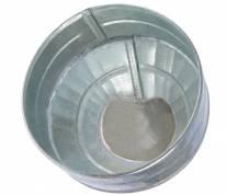 Воронка с сеткой (d160мм)  метал.