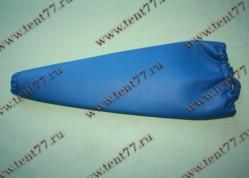 Чехол рычага КПП Газель 3302  экокожа (цв.синий)