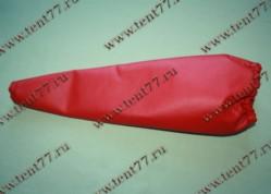 Чехол рычага КПП Газель 3302  экокожа (цв.красный)