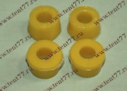 Втулка амортизатора Газель 3302,2410 нижн,УАЗ (комплект 4шт) полиуретан (желтая)
