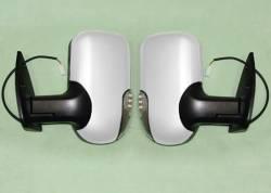 Зеркала 2шт на Газель (комплект) ГАЗ-3302, 2217 нового образца с повторителем (цвет белый) обогрев