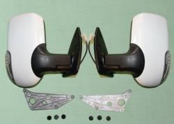 Зеркала Газель 3302, 2217 с поворотником нового образца (цвет белый) пара