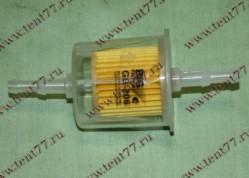 Фильтр топливный (тонкой очистки)  Газель 3302,ВАЗ,УАЗ карбюр.(прямоточный, штуц.6-8мм)
