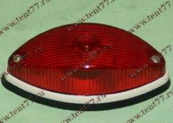 Фонарь габаритный задн. красный (лодочка) без ламп