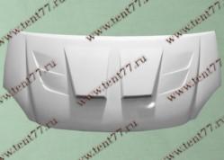 Капот Газель-3302 н/об. пластиковый Фрилансер с воздухозаборником (белый)