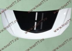Капот Газель 3302 NEXT пластик (белый-черный) Тюнинг