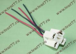 Колодка реле 4-конт.с проводами 120мм.S=0,75мм.