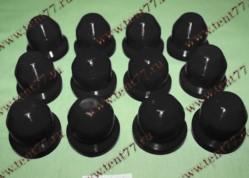 Колпачки декор.на колёсные гайки Газель 3302 пласт. к-т 12шт. (черный)