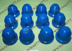 Колпачки декор.на колёсные гайки Газель 3302 пласт. к-т 12шт. (синий)