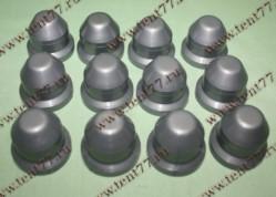 Колпачки декор.на колёсные гайки Газель 3302 пласт. к-т 12шт. (серый)