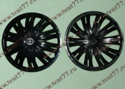 Колпак колеса декор. R16 Газель 3302  Гига черный  перед.(к-т 2шт)