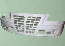 Белый бампер передний Газель-3302 БИЗНЕС, АУДИ в сборе с ПТФ