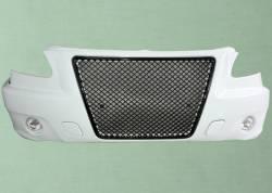 Белый бампер передний Газель-3302 БИЗНЕС БЕНТЛИ в сборе с ПТФ