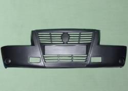 Бампер передний Газель 3302 старого образца КОМЕРС (литая решетка)