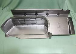 Металл вставка для ремонта подножки Газель (правая)