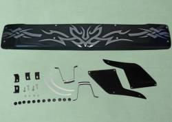 Дефлектор лобового стекла Газель солнце защита Газель 3302 (низкая кабина) с узором