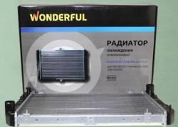 Радиатор охлаждения двигателя Газель 3302 2-х рядный алюминиевый
