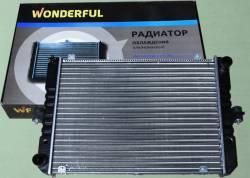 Радиатор охлаждения двигателя Газель 3302 2-х рядный  старого образца  алюминиевый
