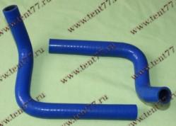 Патрубки отопителя дополнительного Газель Некст NEXT (к-т 2шт) силикон (синий)