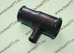 Труба радиатора Газель 3302 двигатель 402,406 отводящая (чайник)