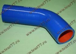 Патрубок радиатора Газель 3302 двигатель Сhrysler 2.4 отводящий нижн.силикон