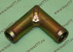 Переходник (угольник) отопителя d=18 (метал)