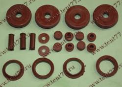 РК уплотнителей свечного колодца двигатель 406 полный нового образца (21 дет) цвет красный