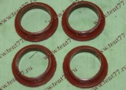 РК уплотнителей свечного колодца двигатель 406 нового образца (4 дет) цвет красный