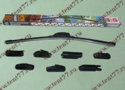 Щетка ст/очистителя б/каркасная (500mm) Газель 3302,ВАЗ 2108  STANDART  (графит)