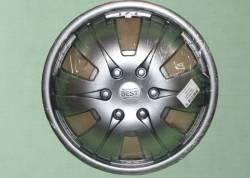 Колпак колеса Газель декоративный *BEST серебро* передний (к-т 2шт.)