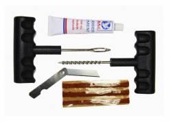 Набор для ремонта бескам.шин (шило,клей,жгуты 5шт,нож)