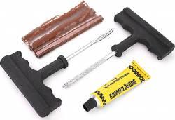 Набор для ремонта бескамерных шин (шило,клей,жгуты 3шт)
