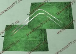 Шторки кабины Газель Некст NEXT (цв.зеленый) на направляющих