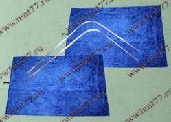 Шторки кабины Газель Некст NEXT (синий) на направляющих