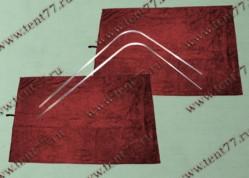 Шторки кабины Газель Некст NEXT (красный) на направляющих