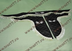 Ламбрекен лобового стекла Газель 3302  с рисунком Орёл  (цв.черный)  экокожа