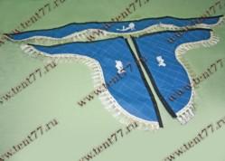 Ламбрекен Газель с рисунком Девушка  (синий)  экокожа