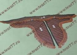 Ламбрекен лобового стекла Газель 3302  с рисунком Девушка  (коричневый)  экокожа
