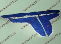 Ламбрекен лобового стекла  без надписи  цвет синий  бархат