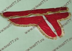 Ламбрекен лобового стекла  без надписи  (цв.красный)  бархат