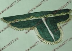 Ламбрекен лобового стекла  без надписи  (цв.зелёный)  бархат