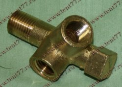 Штуцер датчика давления масла двигатель 402,406,409,511 (тройник)