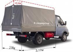 Тент ГАЗ 3302 Газель Импортная ткань, увеличен на 400мм