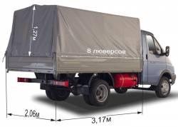Тент ГАЗ 3302 Газель 3,17х2,07х1,27 импортная ткань