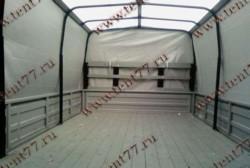 Тент (3,17 х 2,06 х1,27 Стандарт) Газель 3302 (8 люв) отеч.ткань цв.серый/белая крыша