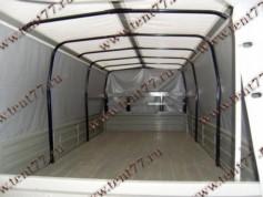 Тент (4,25 х 2,06 х1,27 Удлин.Стандарт) Газель 330202 (9 люв) отеч.ткань цв.серый/белая крыша