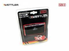Разветвитель прикуривателя 2 гнезда -2 порта USB