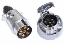 Вилка - розетка эл.разъёма для прицепа (7-ми конт) метал.