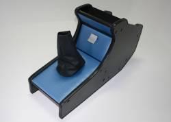 Консоль декор.Газель 3302 н/об. карбон-экокожа (синий)