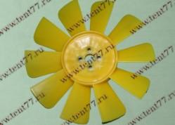 Вентилятор  двигатель 402,406 (10 лопастей) цв.желтый